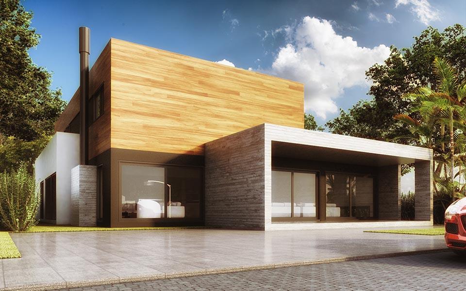 A versatilidade o minimalismo e a praticidade do concreto for Casa minimalista grande